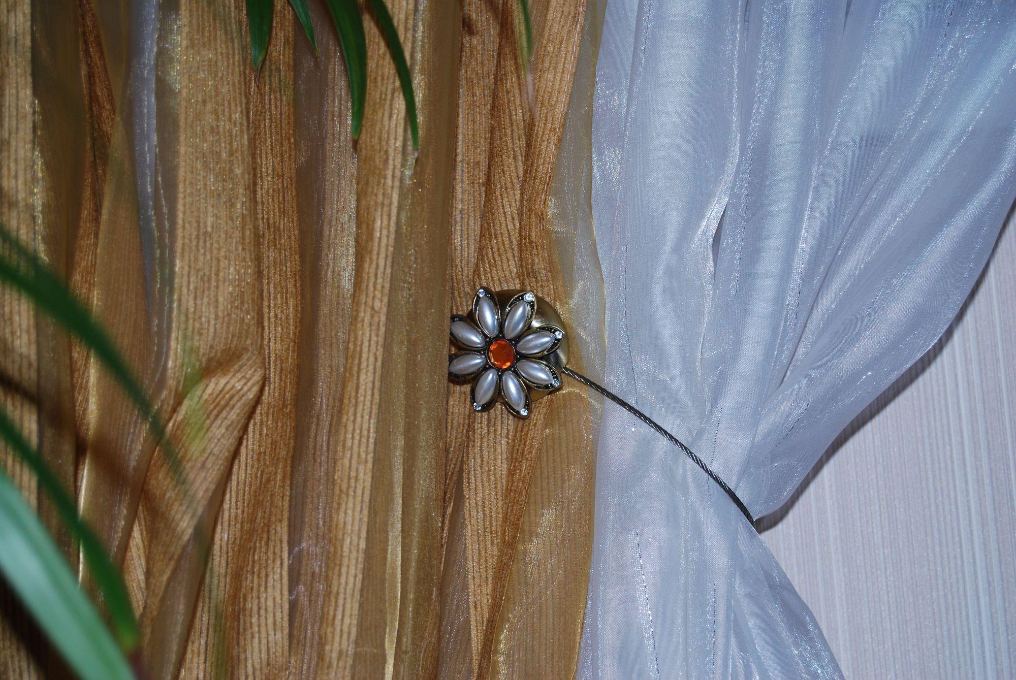 Подвязка на шторы своими руками