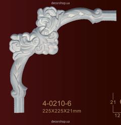 Угловой элемент для молдингов Classic Home 4-0210-6