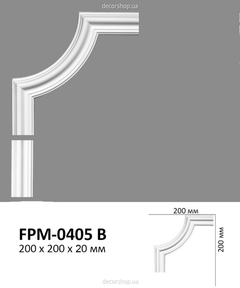 Угловой элемент для молдингов Perimeter FPM-0405B