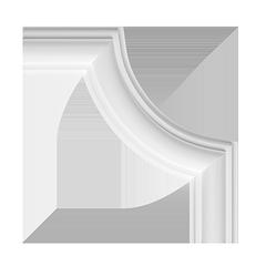 Угловой элемент для молдингов Европласт 1.52.322