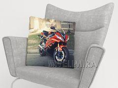 Фотоподушка Красный мотоцикл