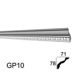Карниз с орнаментом Glanzepol GP10