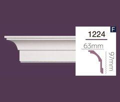 Гладкий карниз Home Decor 1224 (2.44м) Flex