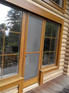 Москитные двери коричневые