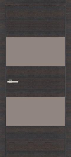 Межкомнатная дверь Omis Cortex Alumo 04 graphite wenge line