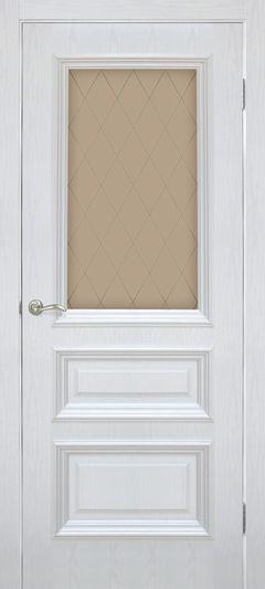 Межкомнатная дверь Omis Сан Марко 1.2 СС+КР стекло бронза ясень перламутр