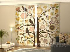 Панельная штора Дерево и цветы