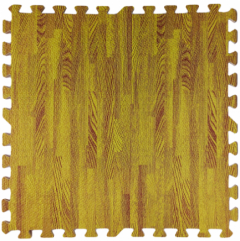 Пол пазл модульное напольное покрытие желтое дерево