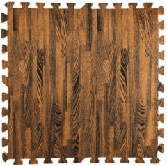 Пол пазл модульное напольное покрытие коричневое дерево