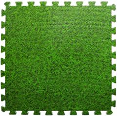 Пол пазл модульное напольное покрытие зеленая трава