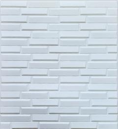 Самоклеющиеся 3D панель Sticker wall под кирпич 4д белый Id 31