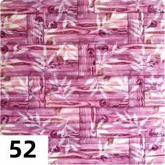 Самоклеющиеся 3D панель Sticker wall под кирпич Бамбук Id 52 Розовый