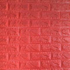 Самоклеющиеся 3D панель Sticker wall под кирпич Красный Id 8