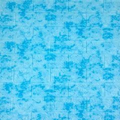 Самоклеющиеся 3D панель Sticker wall под кирпич Мрамор синий Id 65