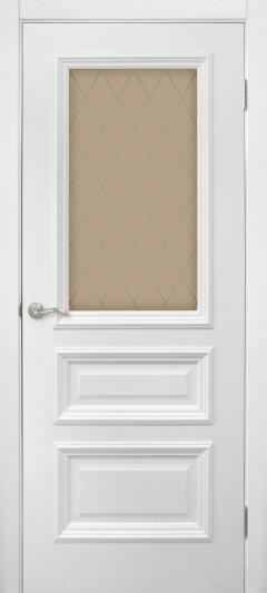Двери Omis Сан Марко 1.2 СС+КР стекло бронза белый silk matt