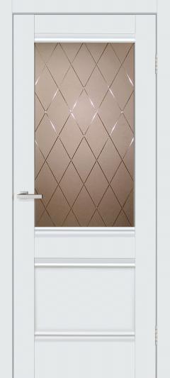 Двери Omis Валенсия 1.1 СС+КР белый silk matt