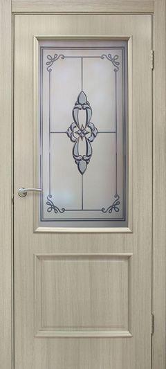 Межкомнатная дверь Omis Версаль СС+ФП дуб беленый