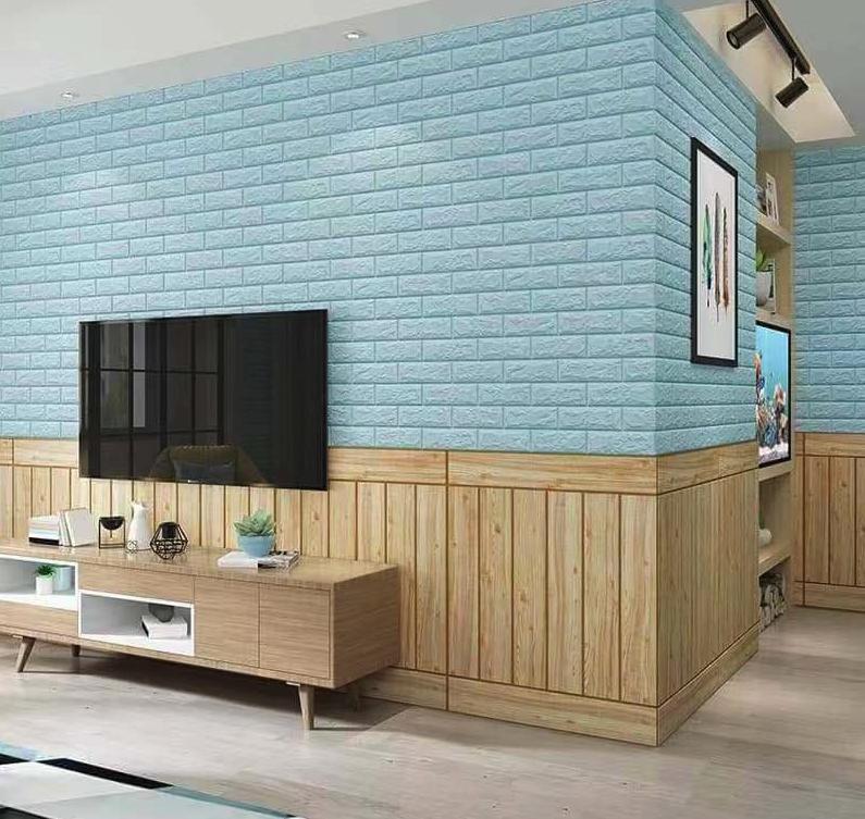 Быстрый декор стен 3д панелями на самоклейке