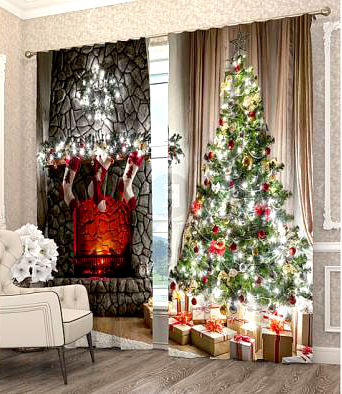 Фотошторы с новогодней тематикой